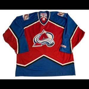 Colorado Avalanche vintage jersey CCM XL 1990's
